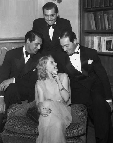 Cary Grant and Friends at Ricardo Cortes's Home